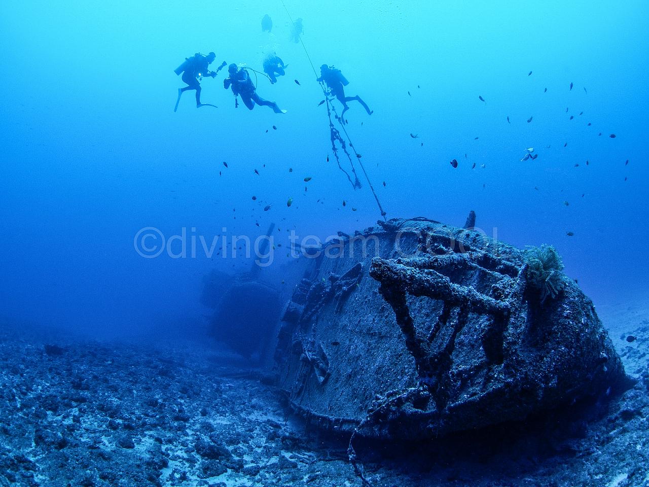 沖縄ダイビング USSエモンズ沈船