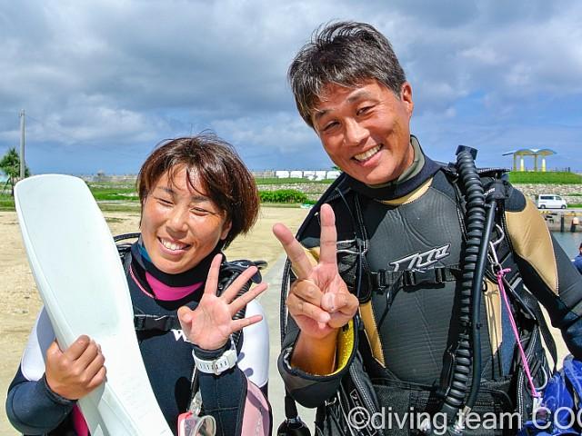 沖縄 PADI インストラクターCOOL 第25期生