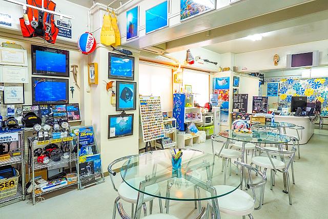 店内写真 沖縄ダイビング クール