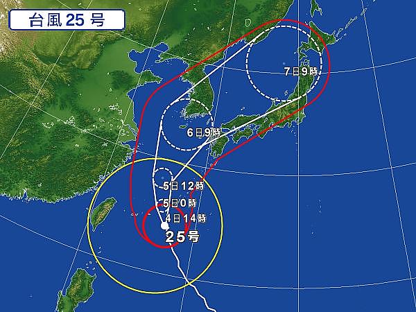 沖縄 台風25号