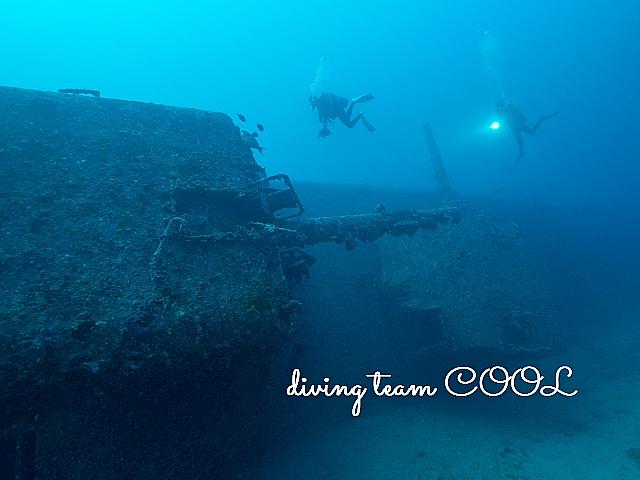 沖縄USSエモンズ沈船ダイビング