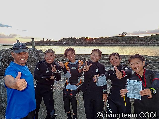 沖縄PADIインストラクター試験