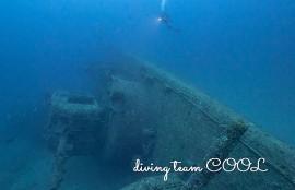 沖縄ダイビング USSエモンズ沈船ダイビング