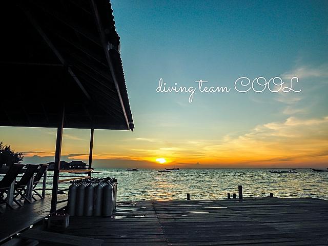 インドネシア デラワン島 夕焼け