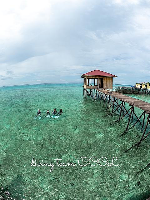 インドネシア デラワン島 桟橋