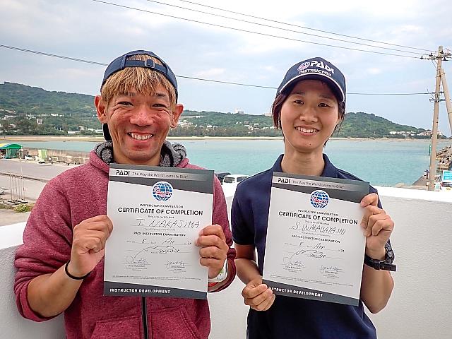 沖縄 PADI インストラクターCOOL 第40期生