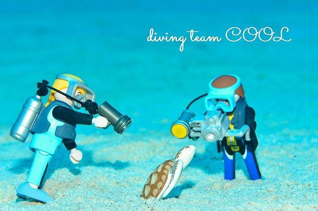 沖縄ダイビング プレイモービル ダイバー